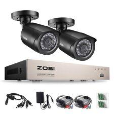 ZOSI CCTV 1080N DVR 720P 4CH Outdoor Home Surveillance Security Camera System