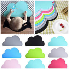 Baby Kids Silicone Insulation Pad Dining Table Kitchen Cloud Place Mat Placemats