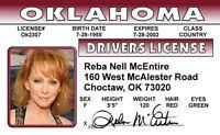 Reba McEntire novelty collectors card Drivers License