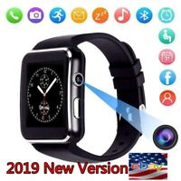 Smart watch iPhone Android IOS Support SIM Bluetooth Smart Watch x6 Black/White*
