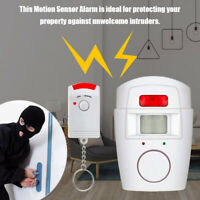 Wireless PIR Motion Sensor Alarm with 2 Remote Controls Home Garage  Security SP