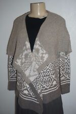 NWT ABERCROMBIE & FITCH WOMEN TAN PATTERNED NON CLOSURE CARDIGAN SIZE S