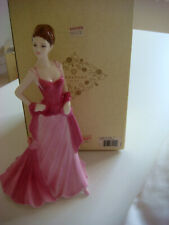 More details for coalport figurine-elizabeth-ladies of fashion series-made england+box