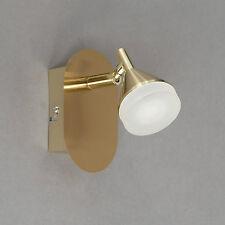 Wofi LED Wandleuchte Cameron 1-flg Messing Spot verstellbar 5 Watt 430 Lumen