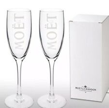 2 X Boxed  Moet Chandon Champagne Glass Flutes New