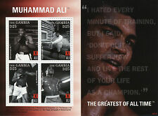 Gambia 2008 MNH Muhammad Ali Greatest of All Time 4v M/S I Boxing Stamps