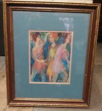 Vintage Estate Oil Painting of 3 Women Abstract - Framed unknown artist(C6-6)