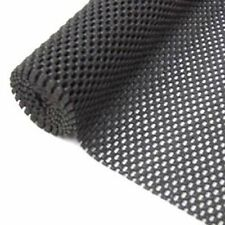 TWO 45 X 125cm Black Non Slip slide Mat Sheeting Sheets- washable cut to size  -