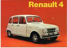 RENAULT 4 SALOON (STANDARD & DELUXE) ORIGINAL 1972 FACTORY UK SALES BROCHURE