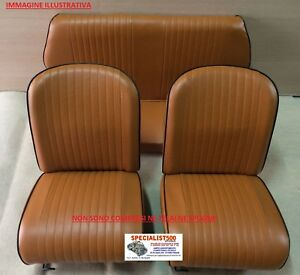 SELLERIA FIAT 500 L COLORE OCRA BORDINO NERO MODELLO ORIGINALE FIAT EPOCA 500 L
