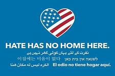 Hate Has No Home Here Corrugated Plastic Lawn Yard Sign with Step Stake
