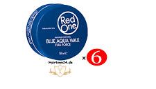 6x RedOne Gel Aqua Hair Wax Full Force Blau 150ml (100ml/1,78€)