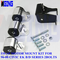 Engine Motor Mounts For Honda Civic EK D16 B16 B18 B20 96-00 97 98 62A Silver