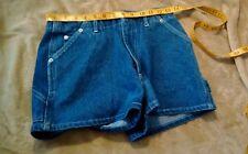 Moda International 100% Cotton Vintage Blue Jeans Utility Mom Shorts Size 4
