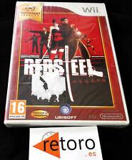 RED STEEL Nintendo WII PAL Español NUEVO Precintado de Fabrica UBISOFT Yakuzas