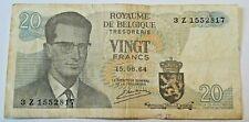 Banknote Belgium Billet Belgique 20 Francs Frank 1964 Roi Baudouin Belgïe