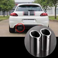 2pcs Silenciador de Tubo de Escape Tubo de cola de punta para VW Golf MK6 MK7