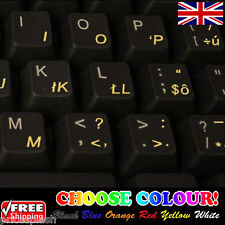 Slovak Transparent Keyboard Stickers for Laptop Notebook Computer - 6 Colours