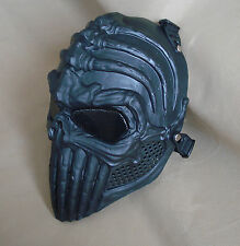 Black Paintball CS Airsoft Full Face Wire Mesh Eyes Protection Skull Mask FDN16