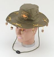 Australian Hat With Corks Aussie Cricket Theme Crocodile Dundee Fancy Dress