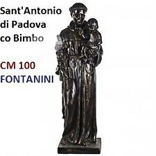 Statua religiosa FONTANINI sant'antonio di padova color bronzo cm 100 in resina