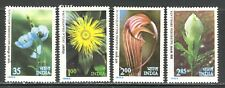 HIMALAYAN FLOWERS ON INDIA 1982 Sc 959-962 MNH