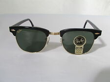 New Vintage B&L Ray Ban Clubmaster Wayfarer Set Black W0365 49mm Sunglasses USA