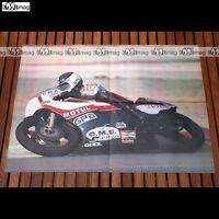 BERNARD FAU en 1980 - Poster Pilote MOTO #PM419