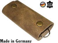 Schlüsseletui braun Schlüsseltasche echt Leder Schlüssel Etui Tasche Keycase NEU