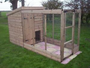 Dog Kennel And Run.  Open Top Run    -    From £375