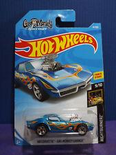 2018 Hot Wheels '68 CORVETTE - GAS MONKEY GARAGE NIGHTBURNERZ 9/10. Long Card.