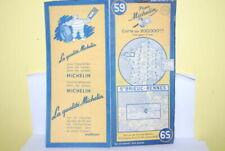 Cartes routières de collection france Années 1950 sur michelin