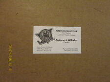 CHL Madison Monsters Vintage Defunct Logo Business Card
