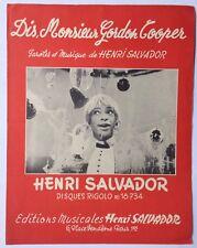 ►PARTITION - HENRI SALVADOR - DIS MONSIEUR GORDON COOPER - 1965