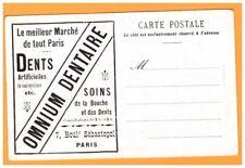 Publicité PHARMACIE - DENTISTE / OMNIUM DENTAIRE Paris illustrée HOTEL DE VILLE
