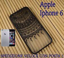 """Cover custodia rigida bordo in gomma smartphone Apple Iphone 6 4.7"""" DISEGNO 1"""