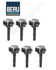 For Audi A6 Quattro Set of 6 Ignition Coil w/ Spark Plug Connectors BERU OEM