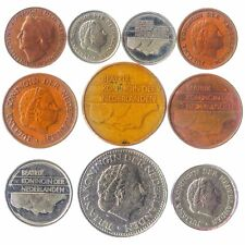 10 MIXED DUTCH COINS. OLD HOLLAND - NETHERLANDS MONEY, CURRENCY: CENTS, GULDEN