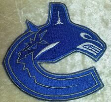 "Vancouver Canucks NHL Logo 3.5"" Iron On Embroidered Patch ~USA Seller~"