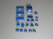Lego® Classic Space Zubehör 20x bedruckte Steine in blau
