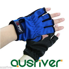 1Pair Unisex 5 Cut Finger Outdoor Jigging Fishing Rod Tackle Anti-slip Gloves