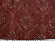 "Drapery Upholstery Fabric 110""W Jacquard Damask/ Copper, Purple, Beige on Brick"