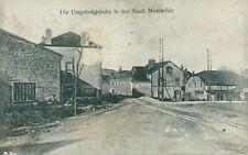 Ansichtskarte Die Umgehungsbahn in der Stadt Montmedy 1913 Feldpost
