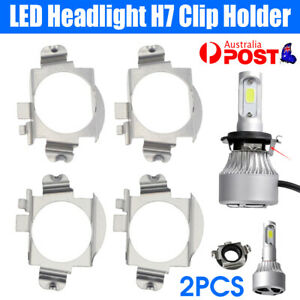 2Pcs LED Headlight H7 Clip Adapter Holder Retainer For Mercedes Benz Ford Edge