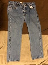 Levi's 501 Button Fly Blue Jeans 34 x 30 Made in Mexico