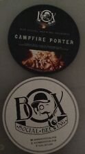 Box Social Brewing campfire porter beermat beer mat/coaster new