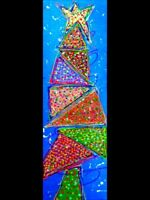 Sapin Original  art moderne abstrait contemporain ACRYLIQUE 30x 70 cm🧚‍♀️