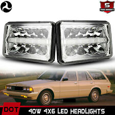 Rectangular 4X6 LED Headlight DRL DOT Approved with Hi/Lo Beam H4651 H4652 H4656
