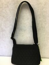 NWT:  Vera Bradley Little Hipster Crossbody Bag Shoulder Bag Black Microfiber
