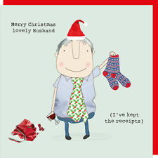Rosie Made A Thing Lovely Husband Xmas Christmas Card Greeting Card Humour